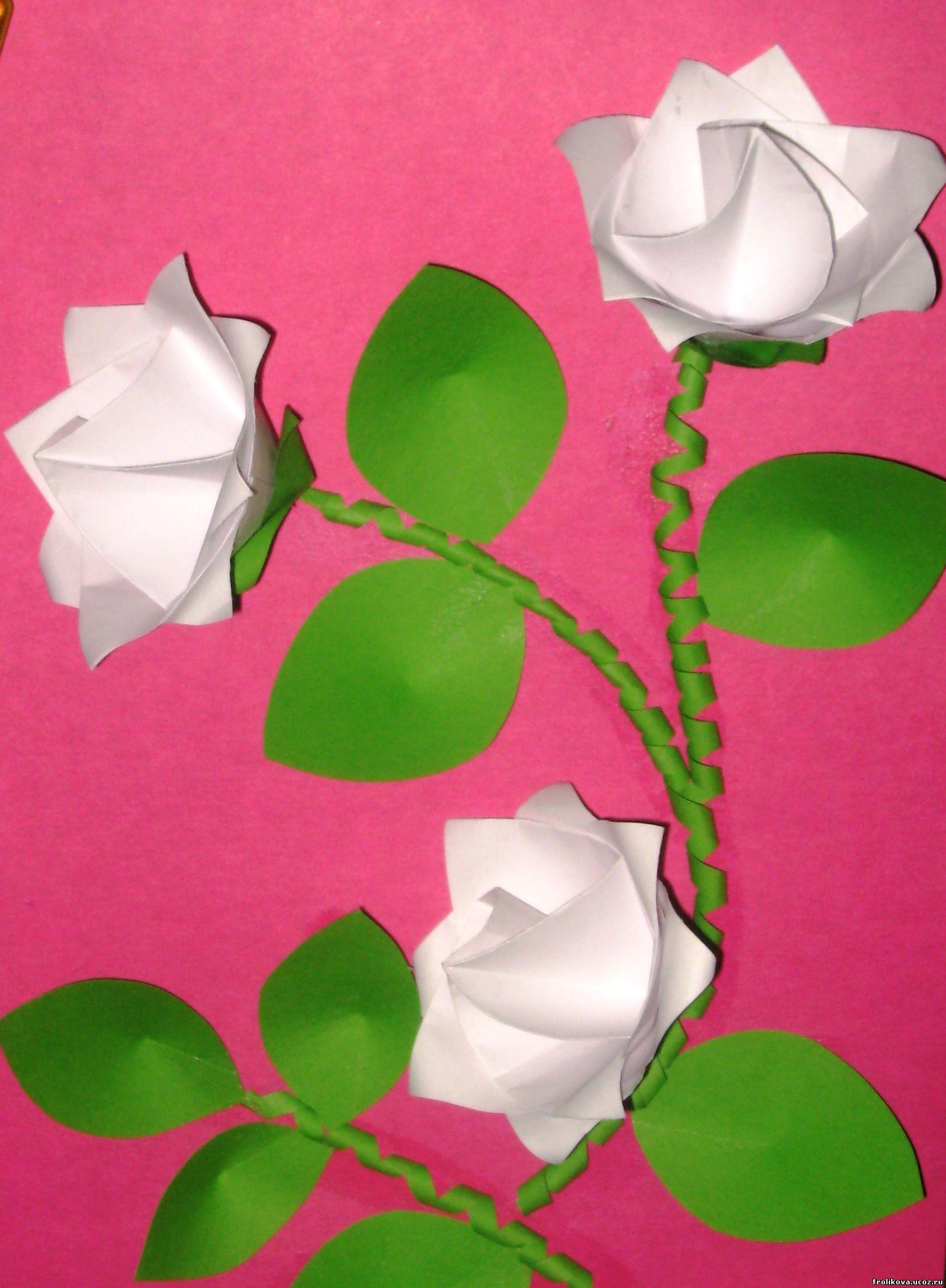 Аппликации цветов из цветной бумаги 100